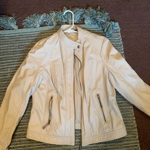 J2 Cream Leather Jacket